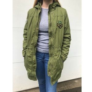 Forever 21 green military style jacket